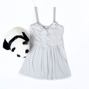 Grey, white striped Abercrombie & Fitch camisole